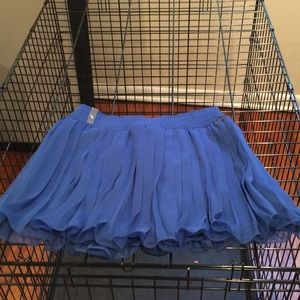 NWT Abercrombie & Finch royal blue skirt